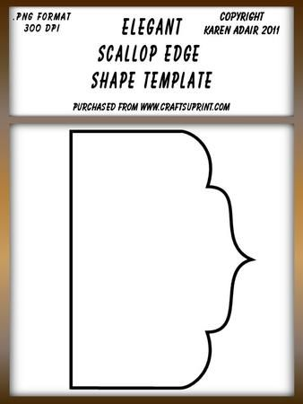 Elegant Scallop Edged Shape Template on Craftsuprint designed by Karen Adair - This is an elegant scallop edged shape, which can be used as a card front, or to create pyramid layers or pockets, or whatever you can think of really. It is in .png resizable format, and is a large 1176 x 1664 pixels. It is CU friendly, so can be used to create design sheets for sale, for example ones you create to sell here on CUP. If you like this, check out my other designs, just click on my name. - Now ...