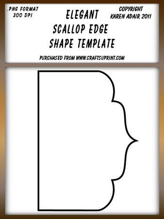 Elegant Scallop Edged Shape Template Shape Templates Templates Card Template