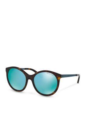e3b0e84a1b Michael Kors Women s Island Tropics Sunglasses - Teal - One Size
