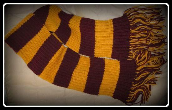 Gryffindor Scarf Knitting Pattern   Harry potter crochet ...