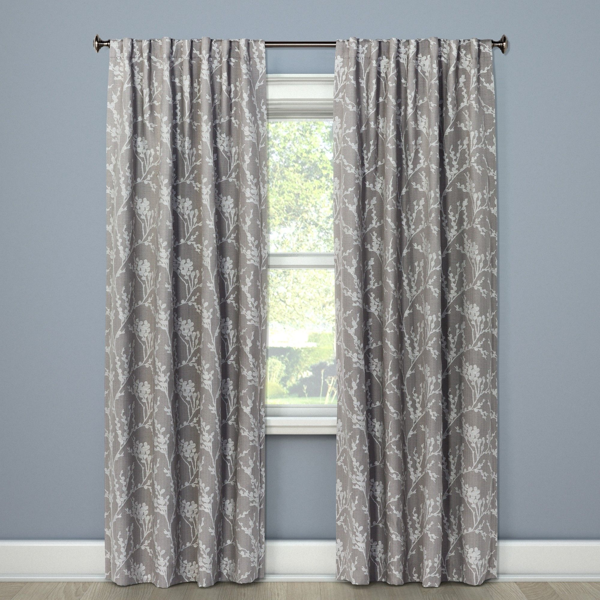 84 X50 Blackout Curtain Panel Gray Threshold Panel Curtains Curtains Blackout Curtains