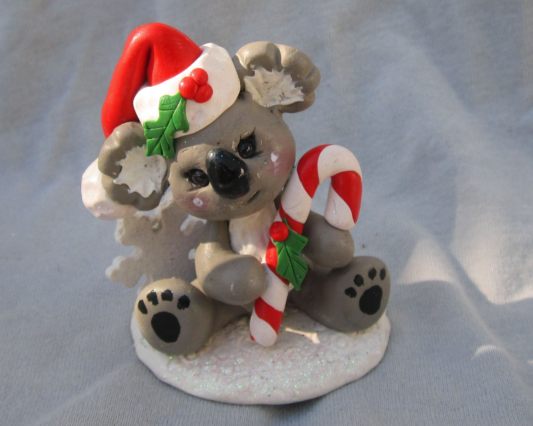 Koala Bear! Polymer clay christmas, Koala craft, Polymer