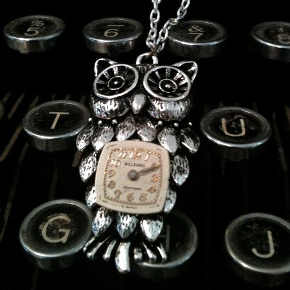 Steampunk Clockwork Owl Necklace