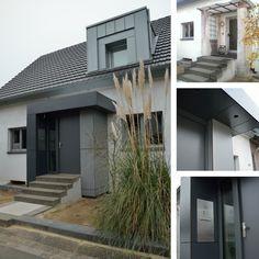 Neugestaltung Hauseingang / Vordach / Windfang Mit Kronoplan