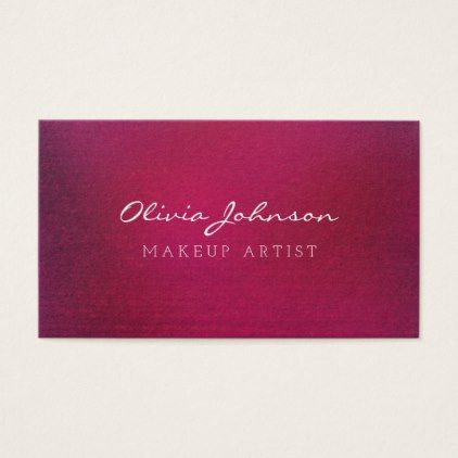 Trendy Pink Makeup Artist Business Cards Makeup artist business cards