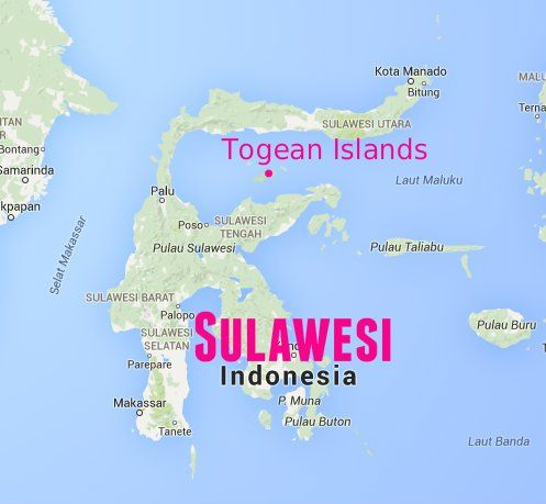togean islands sulawesi indonesia