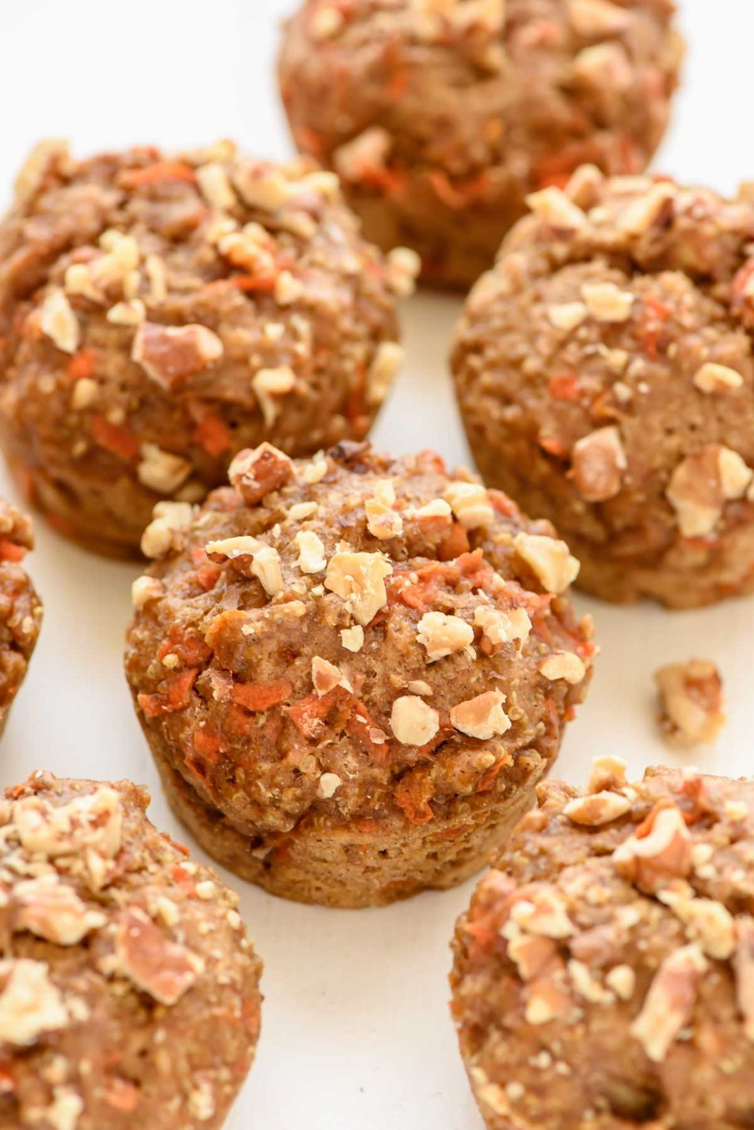 Moist, healthy quinoa muffins that taste just like carrot cake! @wellplated.