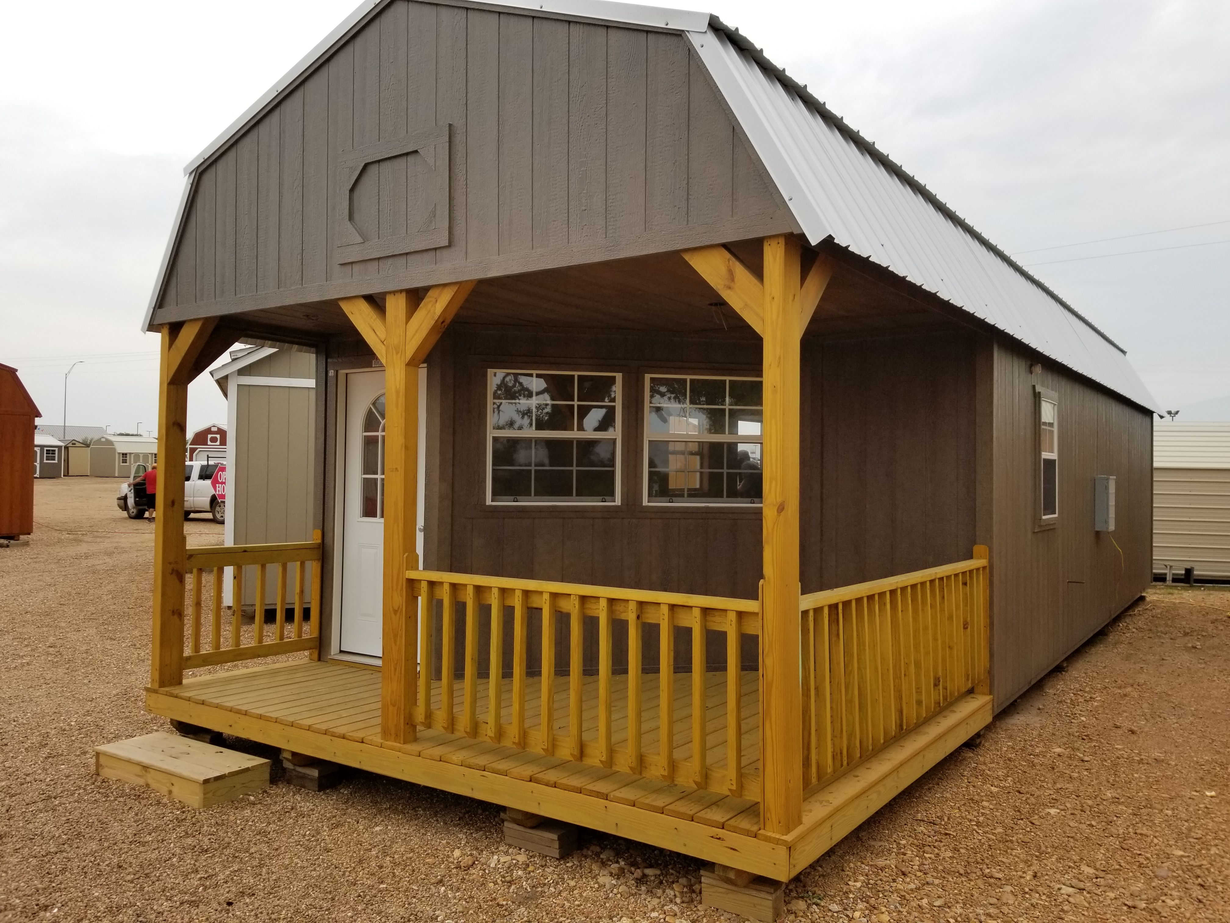 14 X 40 Deluxe Lofted Barn Cabin 560 Sq Ft Includes All Appliances And You Can Customize All Finishes Lofted Barn Cabin Tiny House Design Cabin