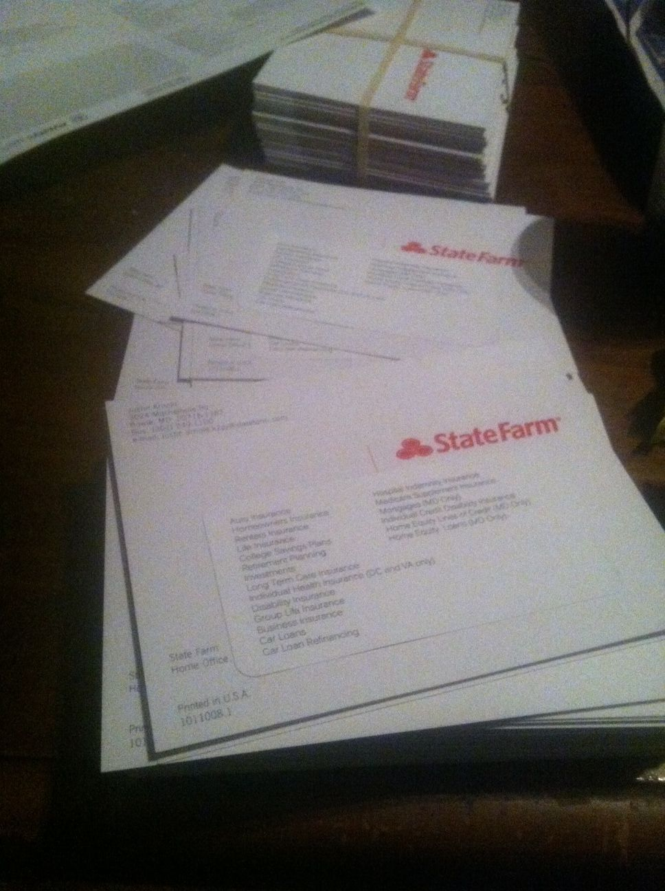 4x6 State Farm Flyers The Freeloaderz Labeled And Distributed