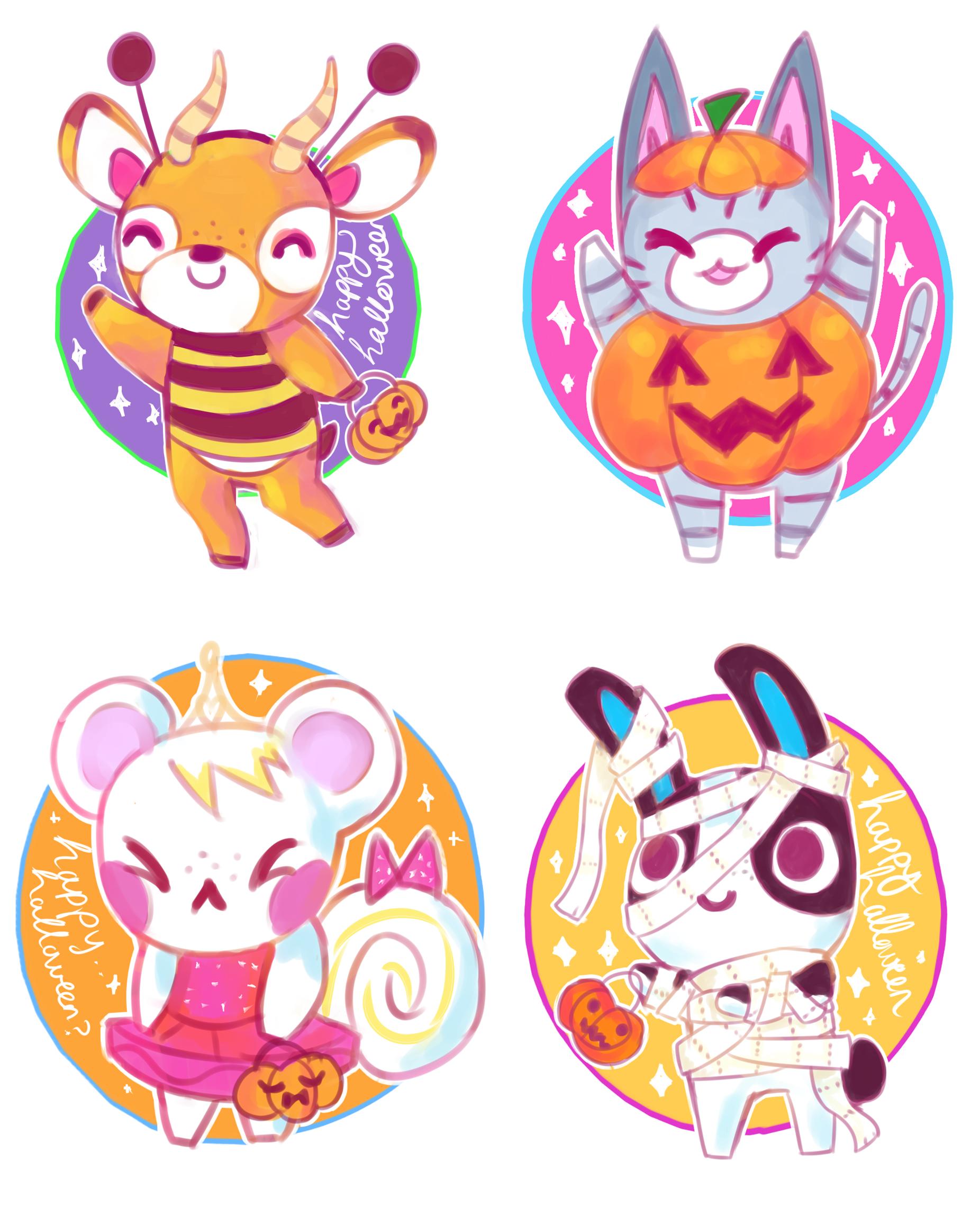 Happy Halloween Animal crossing fan art, Animal crossing