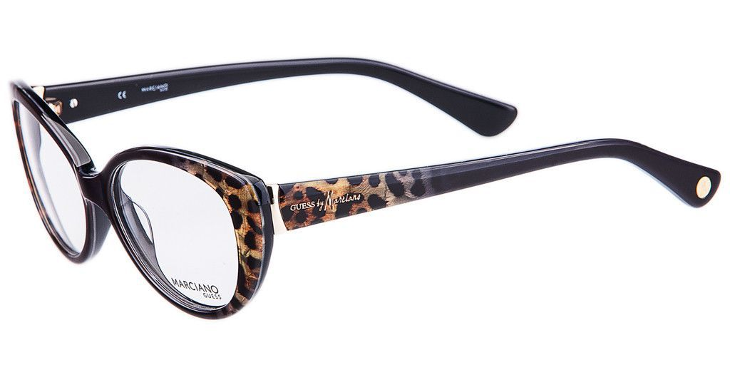 Guess by Marciano GM 175 BKLP Black Leopard Eyeglasses | Eyeglasses ...