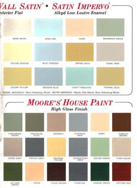 60 colors from benjamin moore s 1969 paint palette gold on benjamin moore exterior color chart id=46798