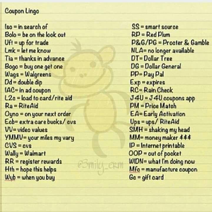 Coupon Lingo Ways To Save Coupons Coupon Lingo Budgeting