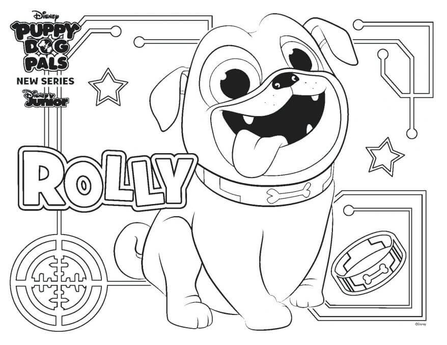 puppy dog pals coloring pages rolly  puppy coloring pages
