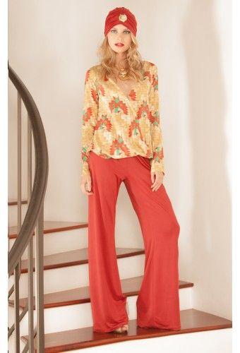 Shop Mandy Pant in Rust Venezia. #RamonaLaRue #Boutique #Miami #BohemianStyle #ShopMiami #Designer #MadeInMiami #Clothing #Womenswear #Clothing #MandyPants #RustVenezia #Fashion