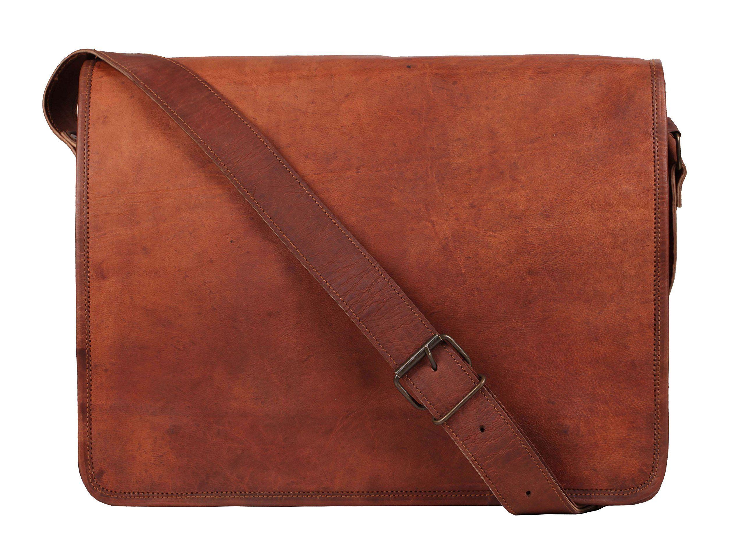 """Gents Vintage Got Real Leather Messenger Bag 15/"""" Laptop Case Crossbody"""