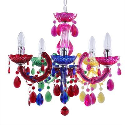 Marie therese 5 light dual mount chandelier multicoloured at marie therese 5 light dual mount chandelier multicoloured at debenhams mozeypictures Images