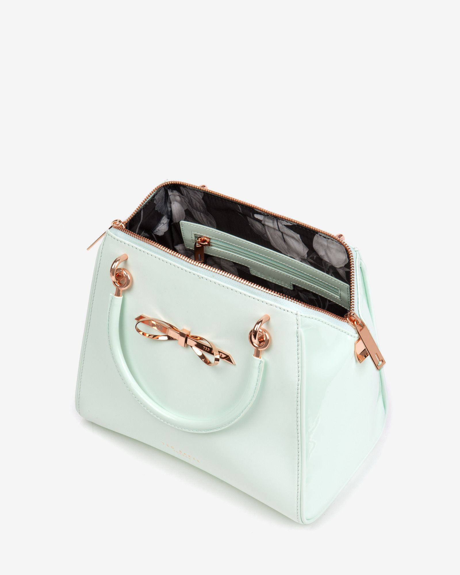 79c69b3c064254 Ted baker Small Slim Bow Tote Bag in Green (Mint)