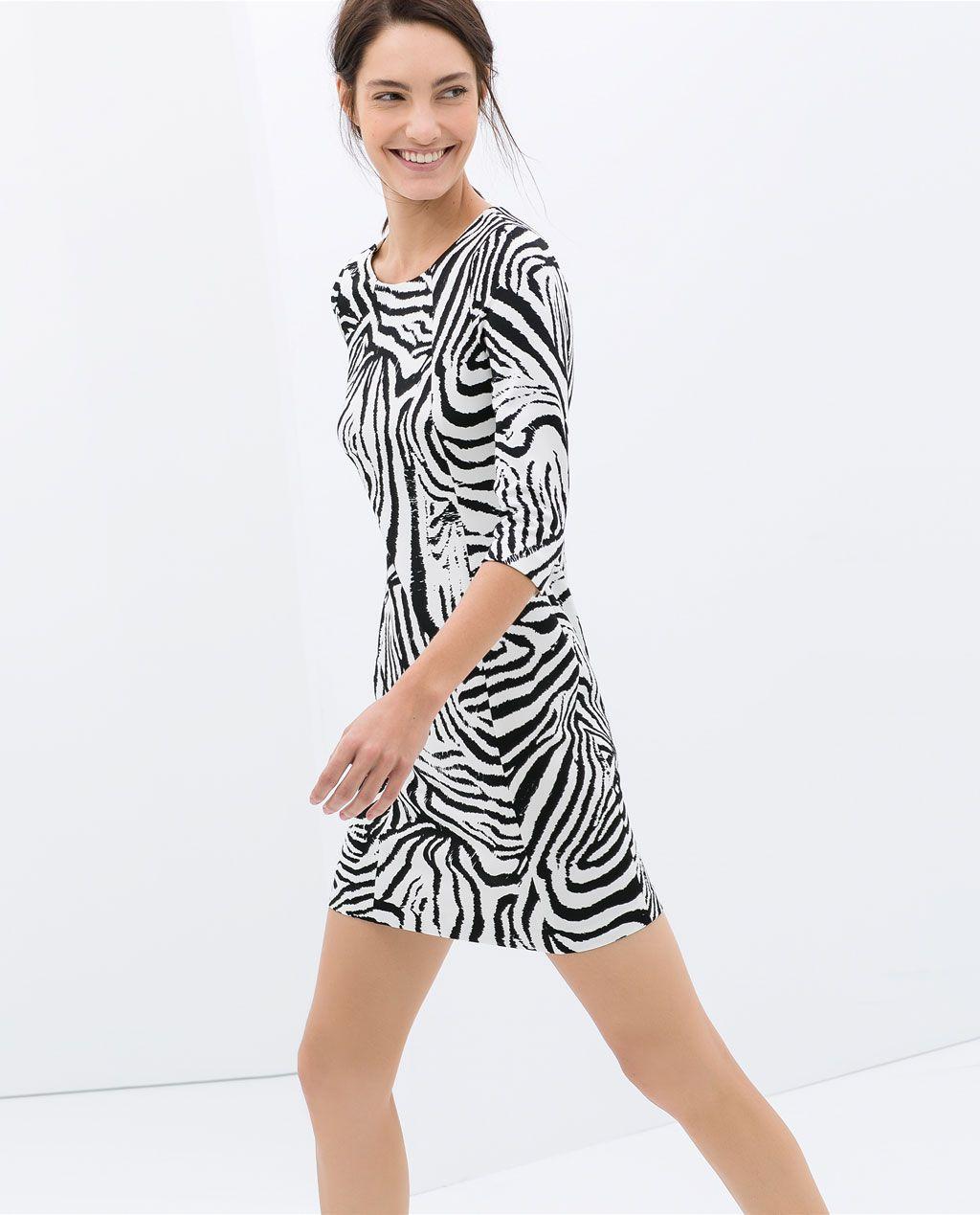 nueva lanzamiento vende nuevo autentico Imagen 2 de VESTIDO ESTAMPADO CEBRA de Zara   Fashion ...