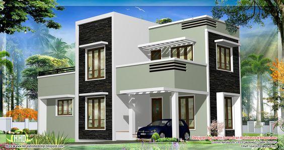 3 bedroom bungalow house plan moreover modern house plans for Casa moderna tunisie
