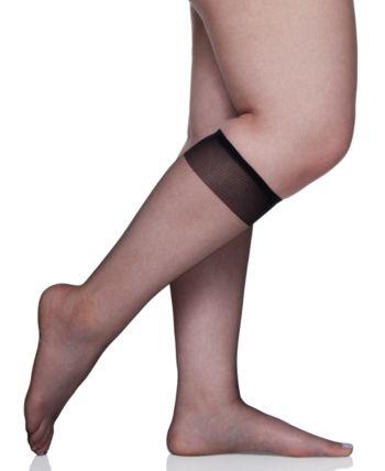 214070731 Berkshire Women s Plus Size Ultra Sheer Knee Highs Hosiery 6460 - Tan Beige
