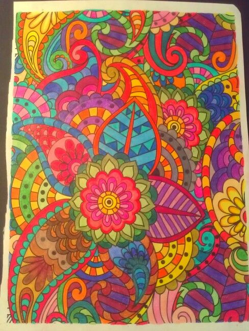 Adult Coloring Pages Completed