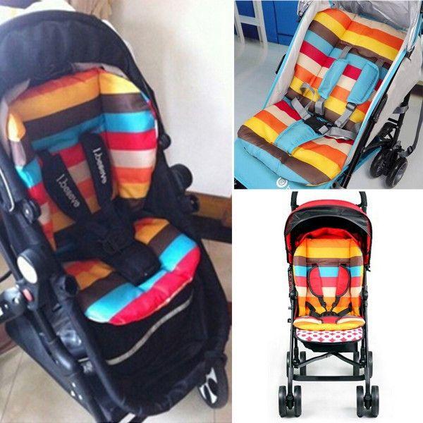 Liner Car Seat Pad Waterproof Padding Pram Rainbow Baby Kids ...