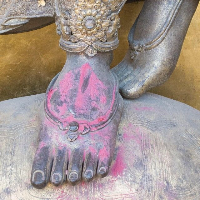 repin @From The Road Exquisite! Detail from a #Hindu statue in Durbar Square. #himalayanjourney #nepal #wanderlust