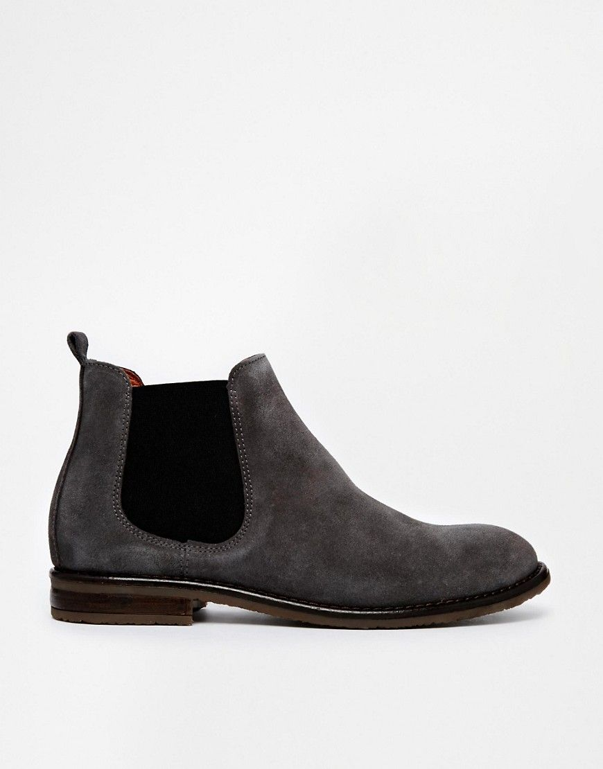Jack Wills Charcoal Suede Chelsea boots