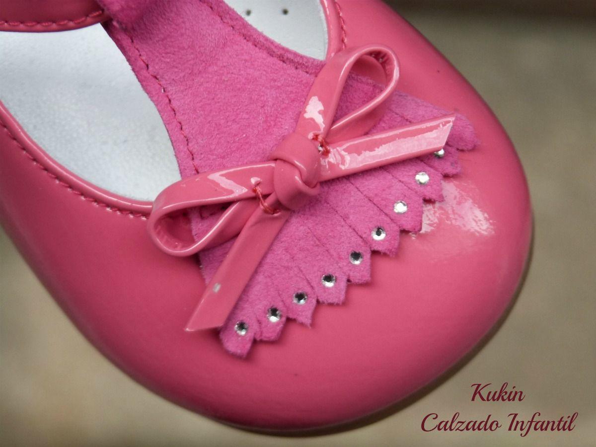 208357334a082 merceditas charol landos zapatos niña - fucsia - calzado infantil -  madeinspain - love - kids