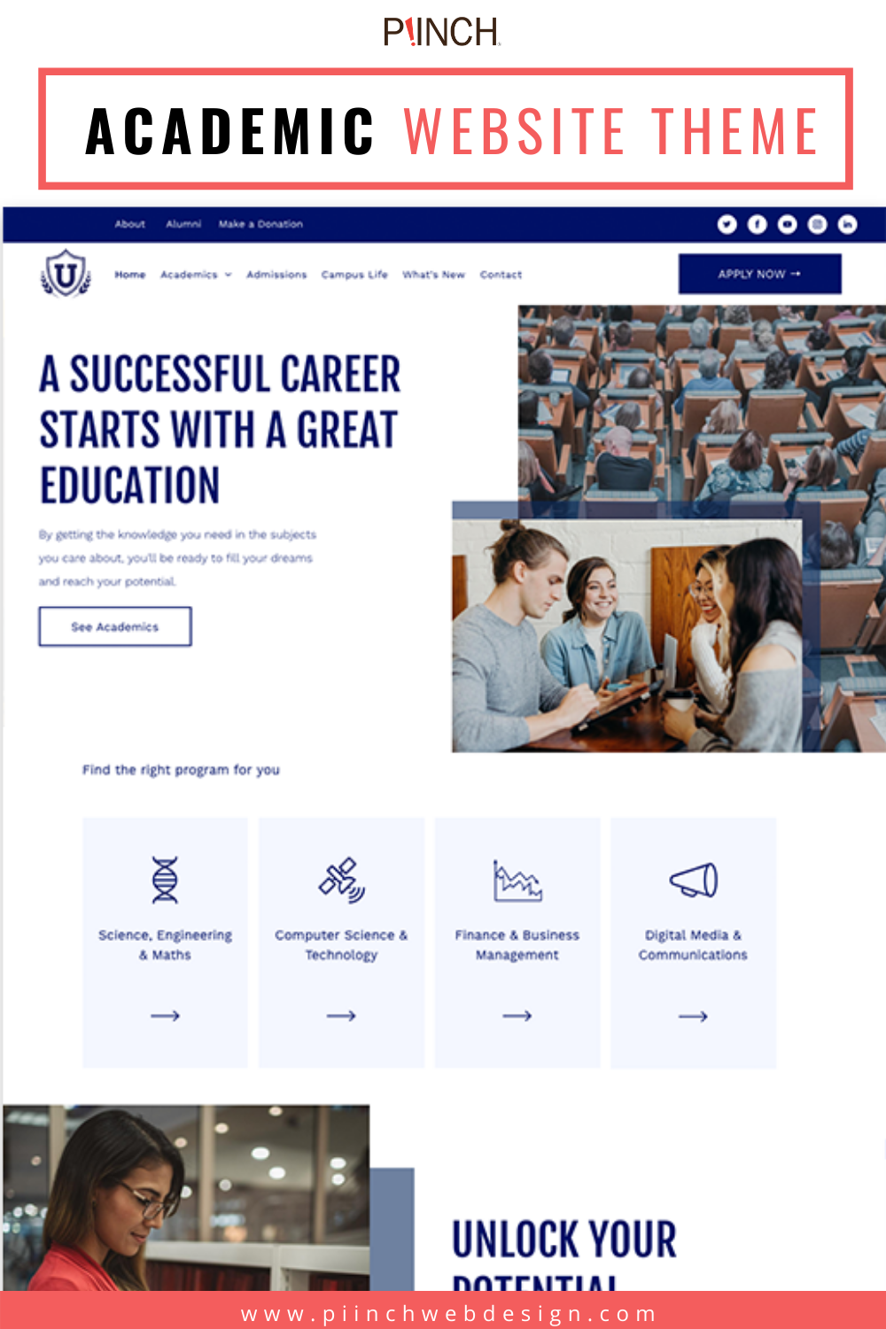 Academic Website Themes Piinch In 2020 Website Themes Web Design Web Template Design