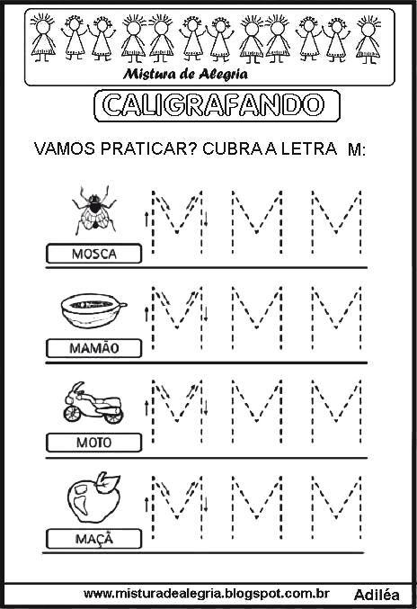 Alfabeto Pontilhado Caligrafando Alfabetizacao Para Imprimir E