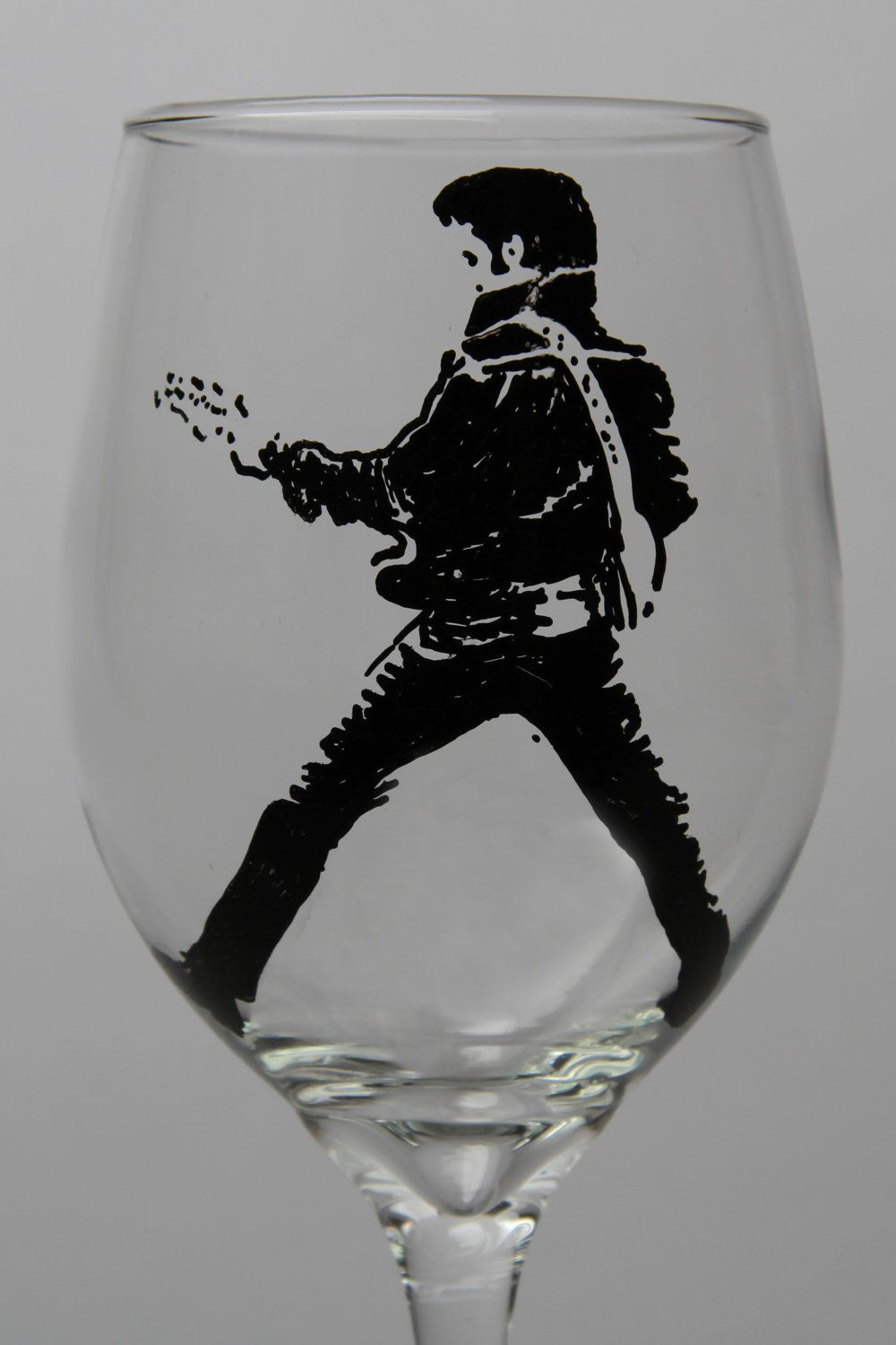 "Nice Elvis Presley Glass 1/"" Logo Marble With Stand  # A"