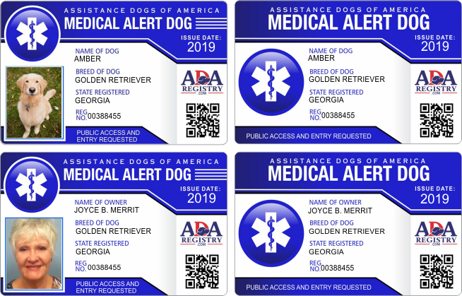 Ada Med Alert Service Dog Registration Medication For Dogs Support Dog