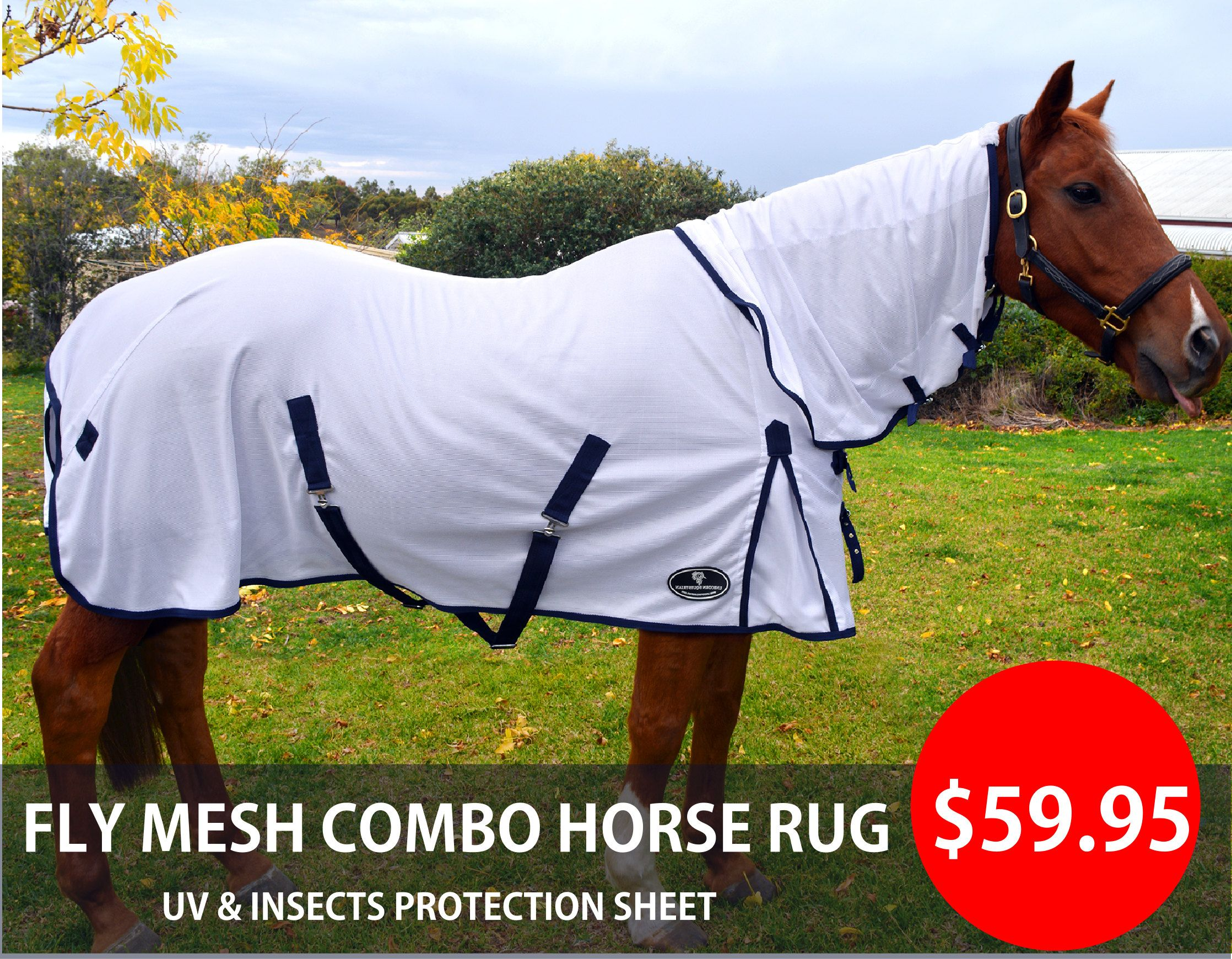 Fly Mesh Combo Horse Rug 300gsm Durable Sheet Sizes 4 9 69 Uv N Insects Protection