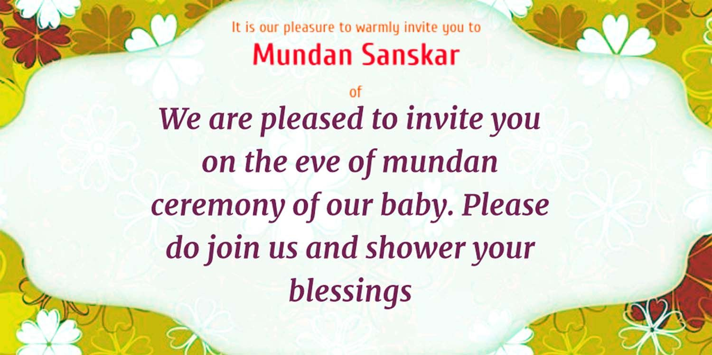 Mundan Ceremony Invitation Quotes Card Design And Wordings Card Design Invitation Card Design Invitations