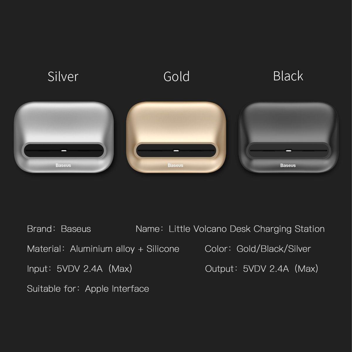Baseus aluminium alloy desktop charging station for iphone