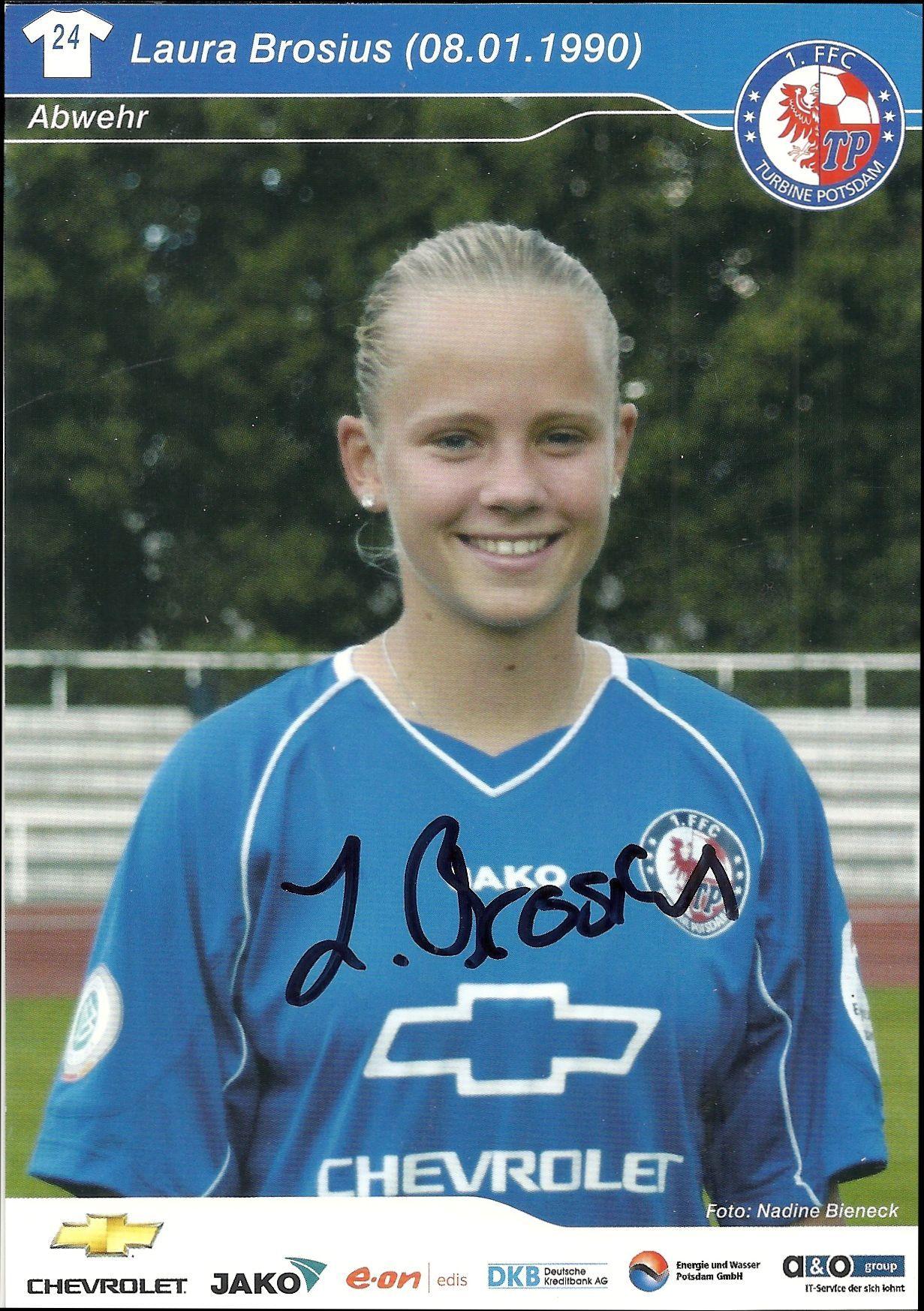 2006 07 Fcc Turbine Potsdam Laura Brosius Autograph Football