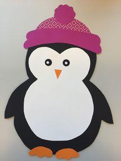 Penguin paper craft template. | Winter Fenster Schule ...
