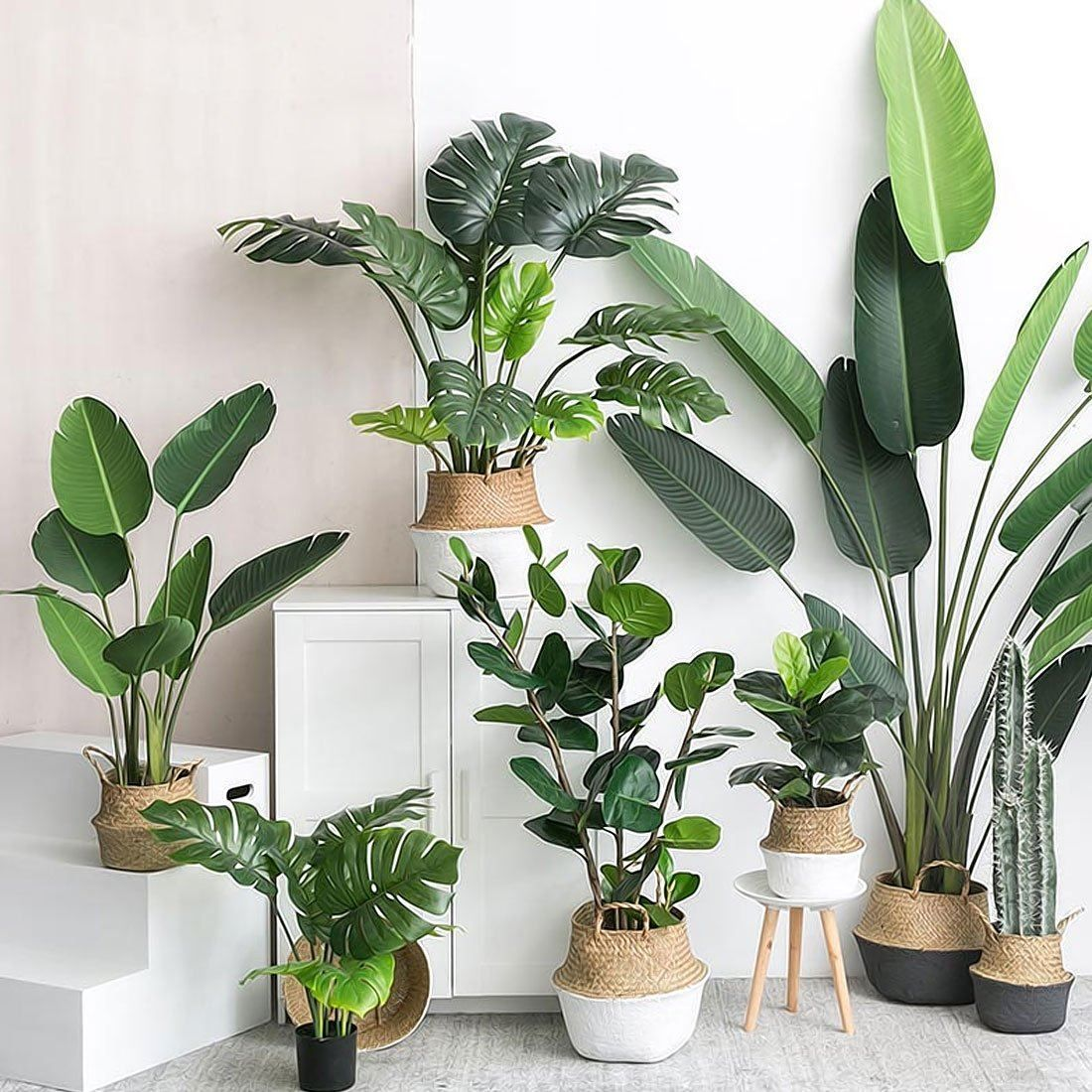 Artificial Plants & Leaves for Home & Garden Decor