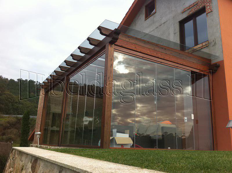Techos fijos de cristal terrazas glass curtain glass y curtains Pergolas de cristal