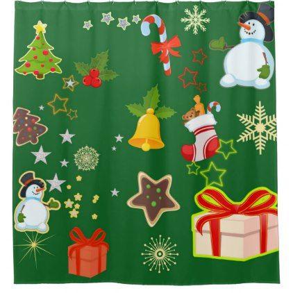 merry Christmas 917 Shower Curtain - shower curtains home decor