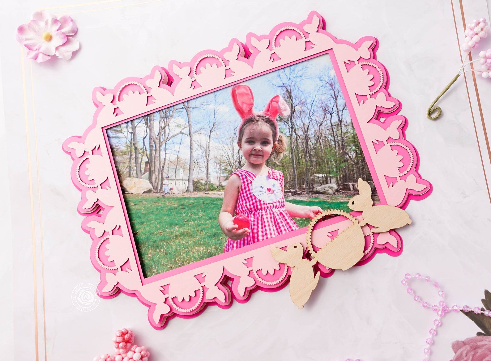 Personalized Diy Scrapbook Kit Diy Baby Girl Frame Kit Premade