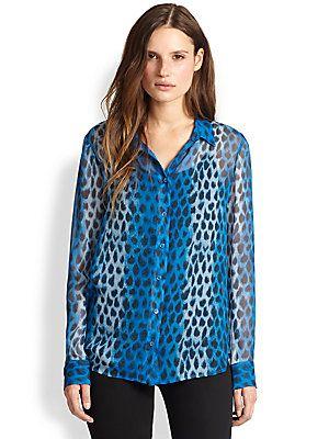 Equipment Audrey Leopard-Print Silk Blouse