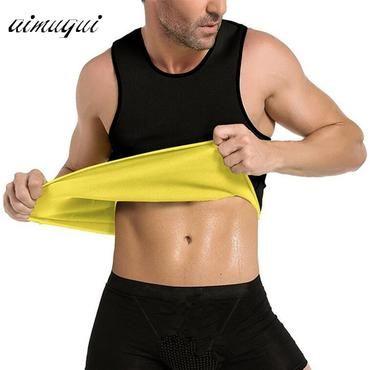 0726dc6145 S- 5XL Body Shaper Slimming Belt Belly Men Slimming Vest Waist Sweat Corset  Neoprene Abdomen