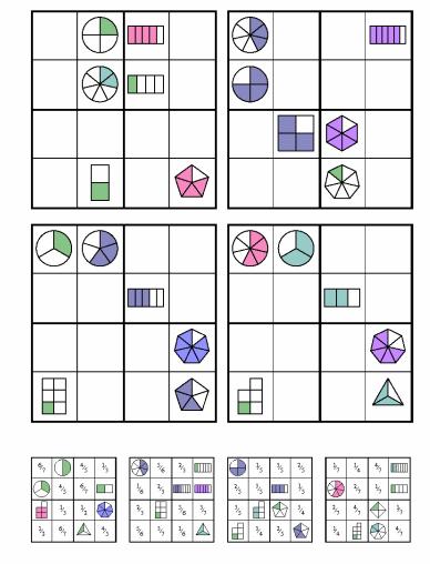 Sudoku De Fracciones Http Neoparaiso Com Imprimir Juegos Matematicos Sudoku Fracciones Pdf Juegos De Matemáticas Juegos Matematicos Secundaria Fracciones
