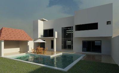 diseno arquitectonico de casa minimalista tzompantle foto