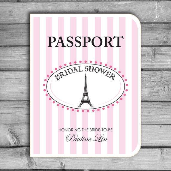 Customized bridal shower invitations paris parisian for Paris themed invitations bridal shower