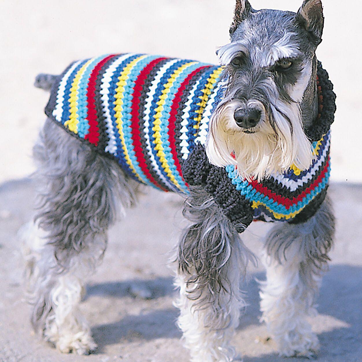 Bernat Crochet Dog Coat, S | Yarnspirations | Crochet dog