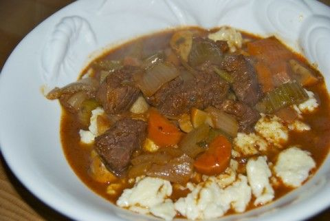 Beef Stew with Homemade Spaetzle